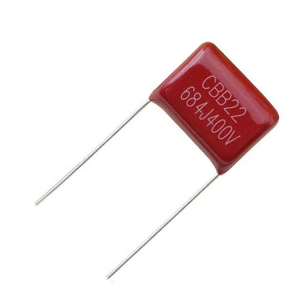 خازن پلی استر 680 نانو فاراد مدل 400V بسته 4 عددی