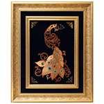 تابلو دست ساز دو قاب آرمانوکس طرح طاووس