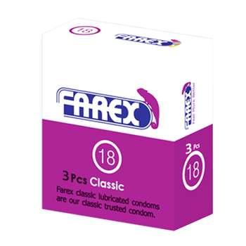 کاندوم فارکس مدل Classic بسته 3 عددی