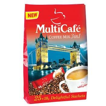کافی میکس 3 در 1 مولتی کافه مقدار 450 گرم بسته 25 عددی