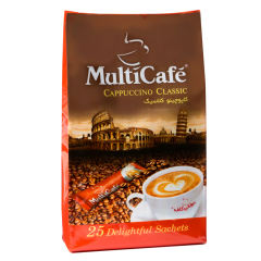 کاپوچینو  کلاسیک مولتی کافه مقدار 450 گرم بسته 25 عددی