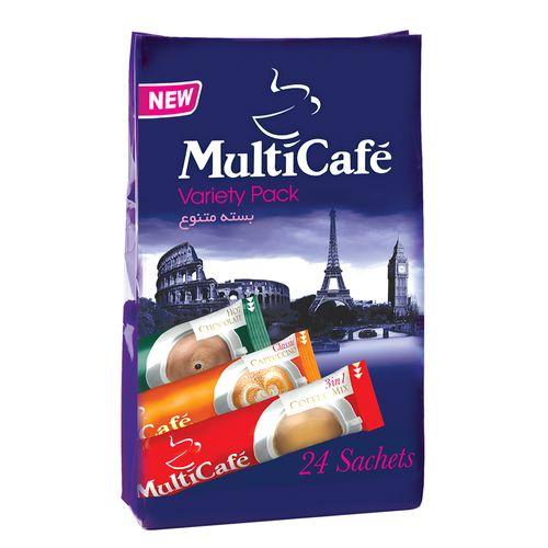 بسته متنوع مولتی کافه مقدار 488 گرم بسته 24 عددی