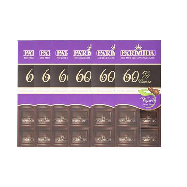 شکلات تلخ 60 درصد پارمیدا - 80 گرم بسته 6 عددی