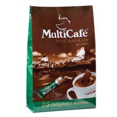 هات چاکلت مولتی کافه مقدار 625 گرم بسته 25 عددی