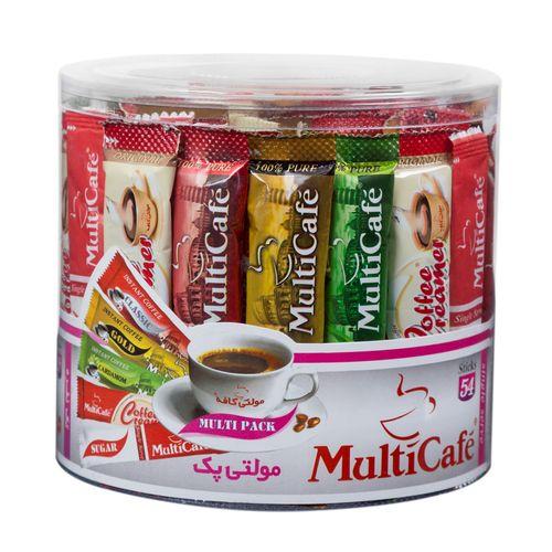 مولتی پک مولتی کافه مقدار 158 گرم بسته 54 عددی