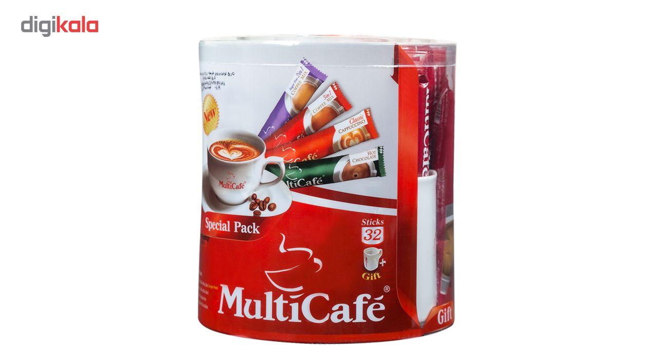 بسته ویژه مولتی کافه مقدار 600 گرم بسته 32 عددی به همراه ماگ هدیه main 1 2