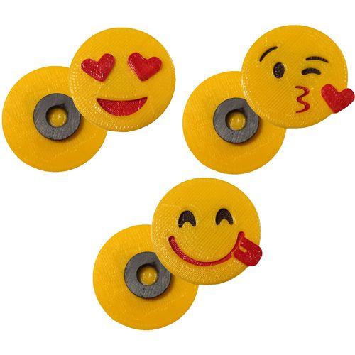 پک مگنت یخچال طرح Emoji1 بسته  3 عددی