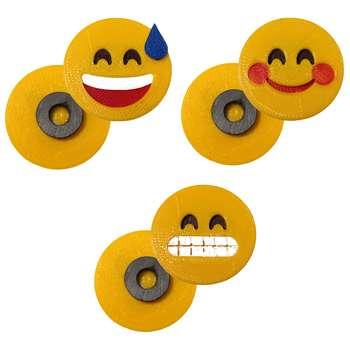 پک مگنت یخچال طرح Emoji2 بسته  3 عددی