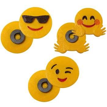 پک مگنت یخچال طرح Emoji3 بسته  3 عددی