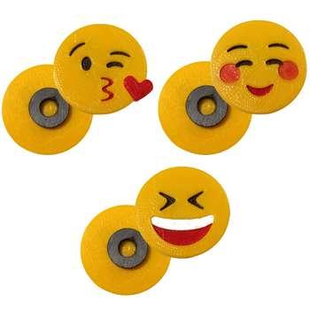 پک مگنت یخچال طرح Emoji4 بسته  3 عددی