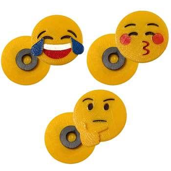 پک مگنت یخچال  طرح Emoji5 بسته 3 عددی