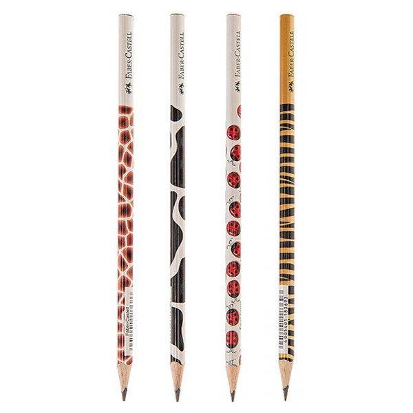 مداد مشکی Faber-Castel طرح حیوانات - بسته 4 عددی