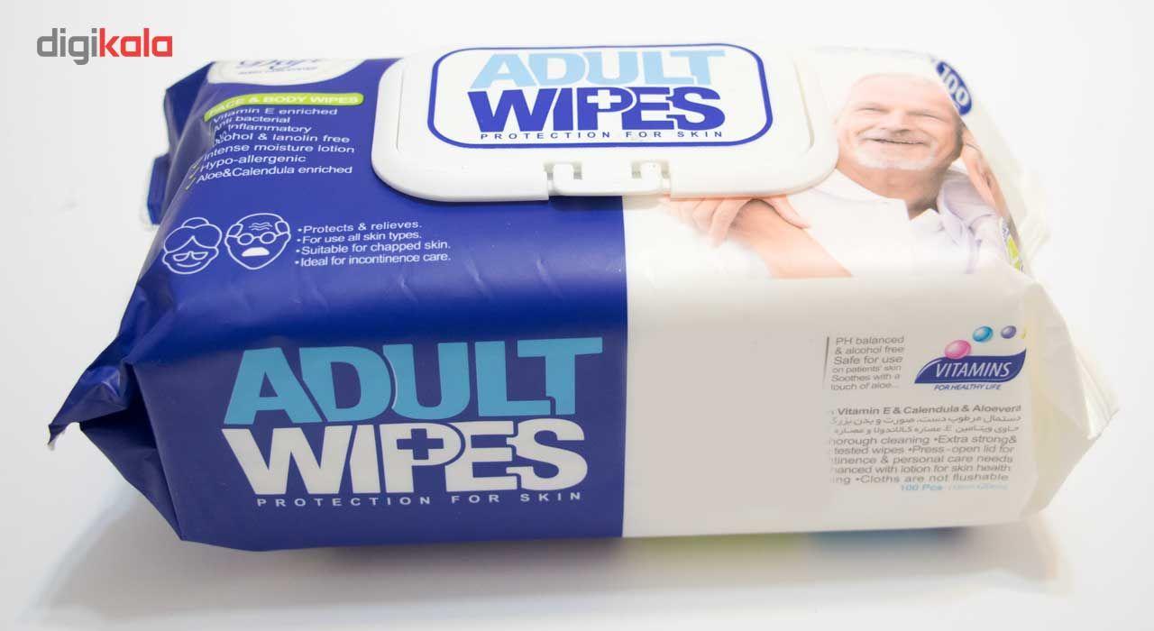 دستمال مرطوب دافی مدل Adult Wipes بسته 100 عددی main 1 2