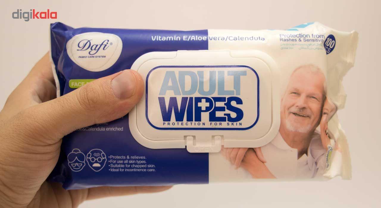 دستمال مرطوب دافی مدل Adult Wipes بسته 100 عددی main 1 3