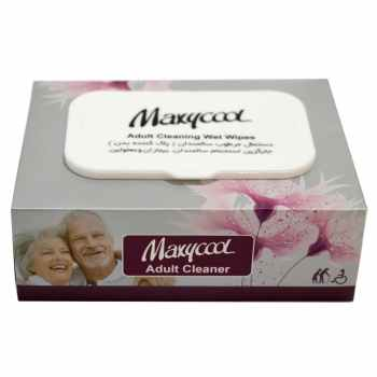 دستمال مرطوب پاک کننده سالمندان ماکسی کول مدل Adult Cleaner بسته 40 عددی