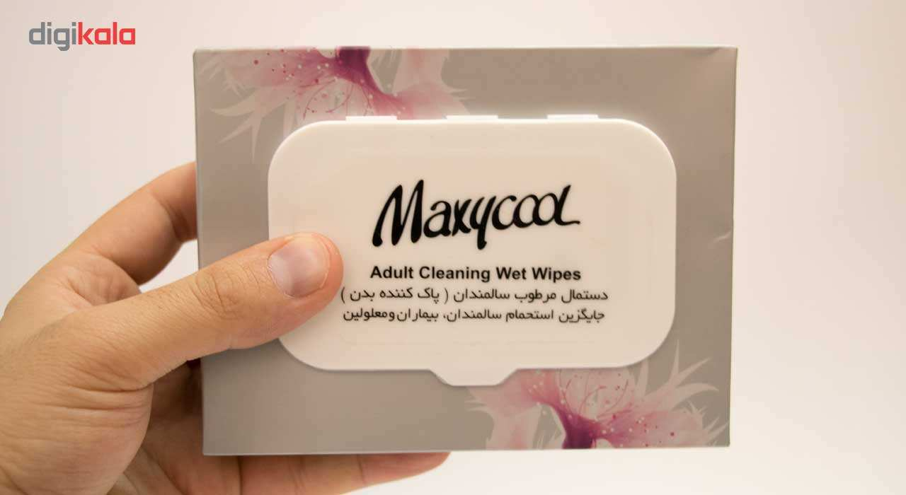 دستمال مرطوب پاک کننده سالمندان ماکسی کول مدل Adult Cleaner بسته 40 عددی main 1 4