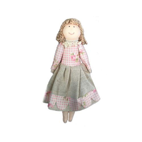 عروسک پارچه ای خانه سفید طرح دختر کد 02