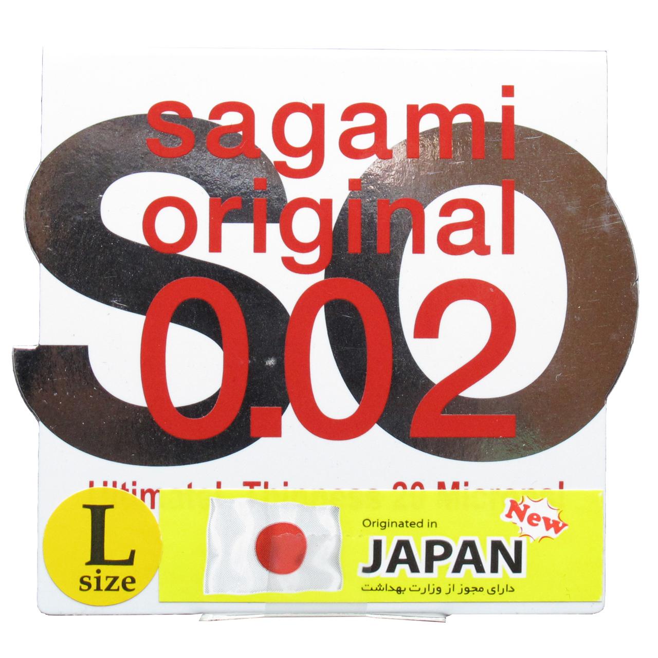 قیمت کاندوم بسیار نازک ساگامی مدل Large بسته یک عددی