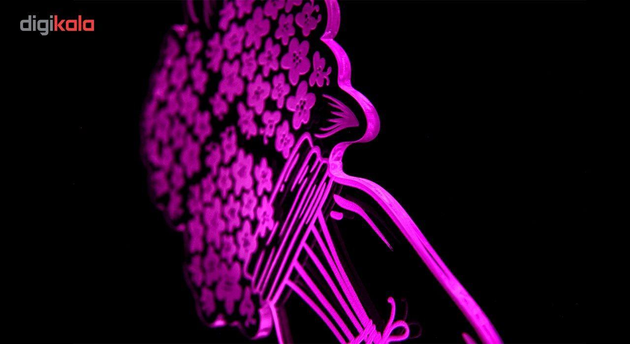چراغ خواب سه بعدی گالری دکوماس طرح گلدان کد DMS106