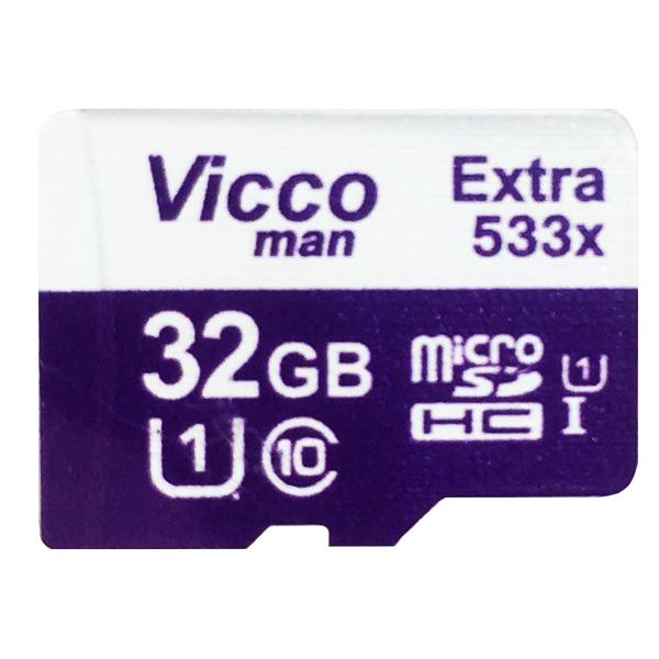 کارت حافظه microSDHC ویکو من مدل Extre 533X کلاس 10 استاندارد UHS-I U1 سرعت 80MBps ظرفیت 32 گیگابایت همراه با آداپتور SD