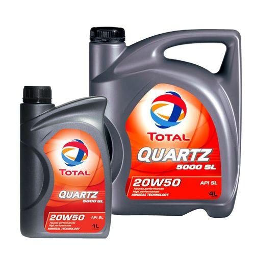 روغن موتور خودرو توتال مدل Quartz 5000  حجم 5 لیتر