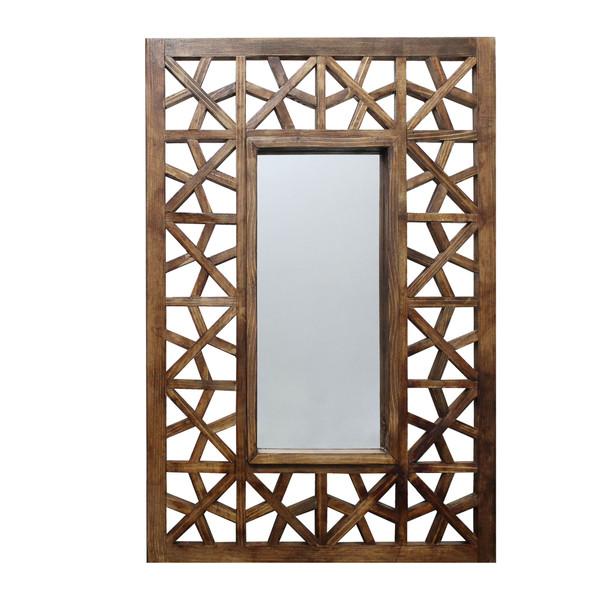 آینه چوبی مدل گره چینی کد 01