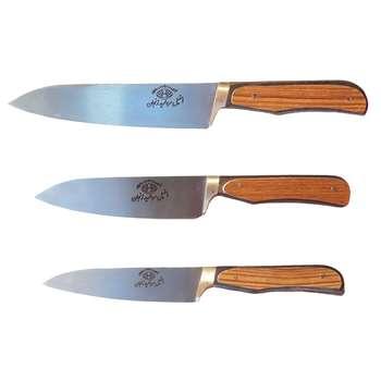 ست چاقوی آشپزخانه 3 پارچه مرواریدزنجان مدل 445