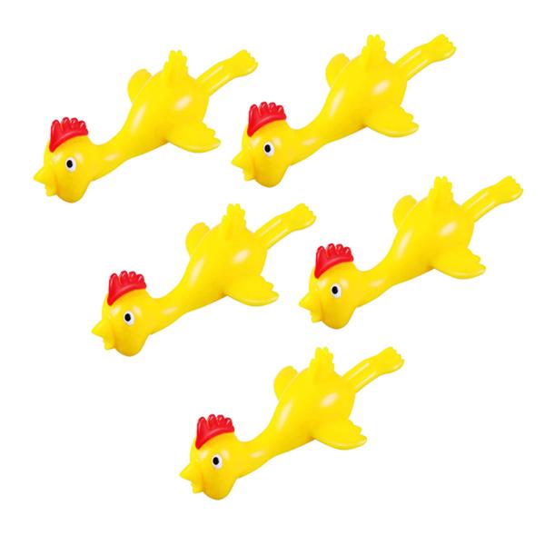 ابزار شوخیمدل مرغ پرتابی بسته 5 عددی