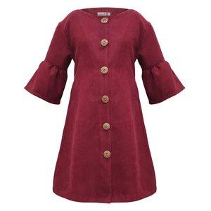 پیراهن دخترانه افراتین کد 0002 رنگ زرشکی