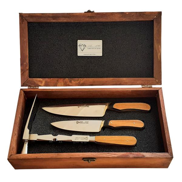 ست چاقو 2 پارچه الماس مدلp001 به همراه قندشکن