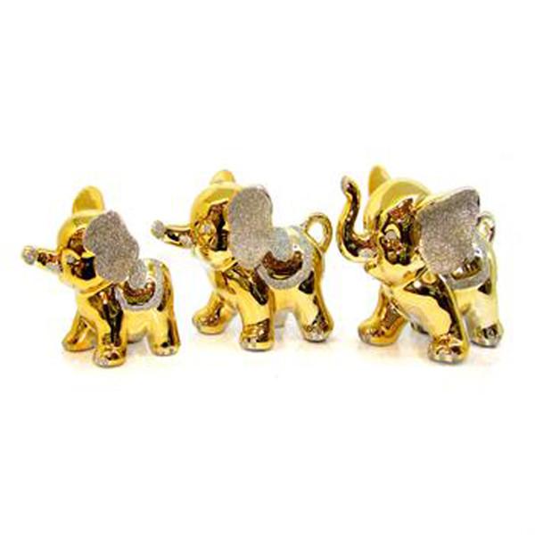 مجسمه مدل خانواده فیل مجموعه 3 عددی