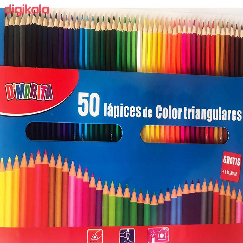 مداد رنگی 50 رنگ D'Marita مدل GRATIS main 1 1