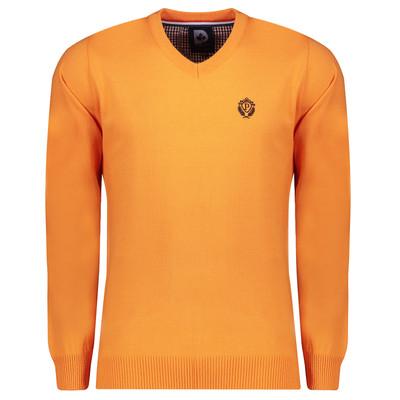 تصویر پلیور مردانه پاییزان مدل P700 رنگ پرتقالی