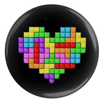 پیکسل طرح بازی خانه سازی و قلب مدل S1823