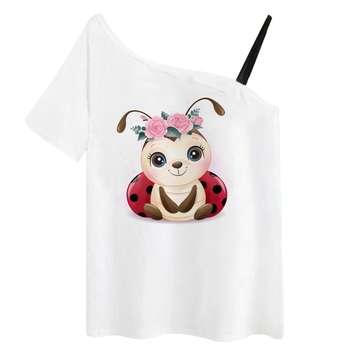 تی شرت آستین کوتاه زنانه مدل RR991106-005