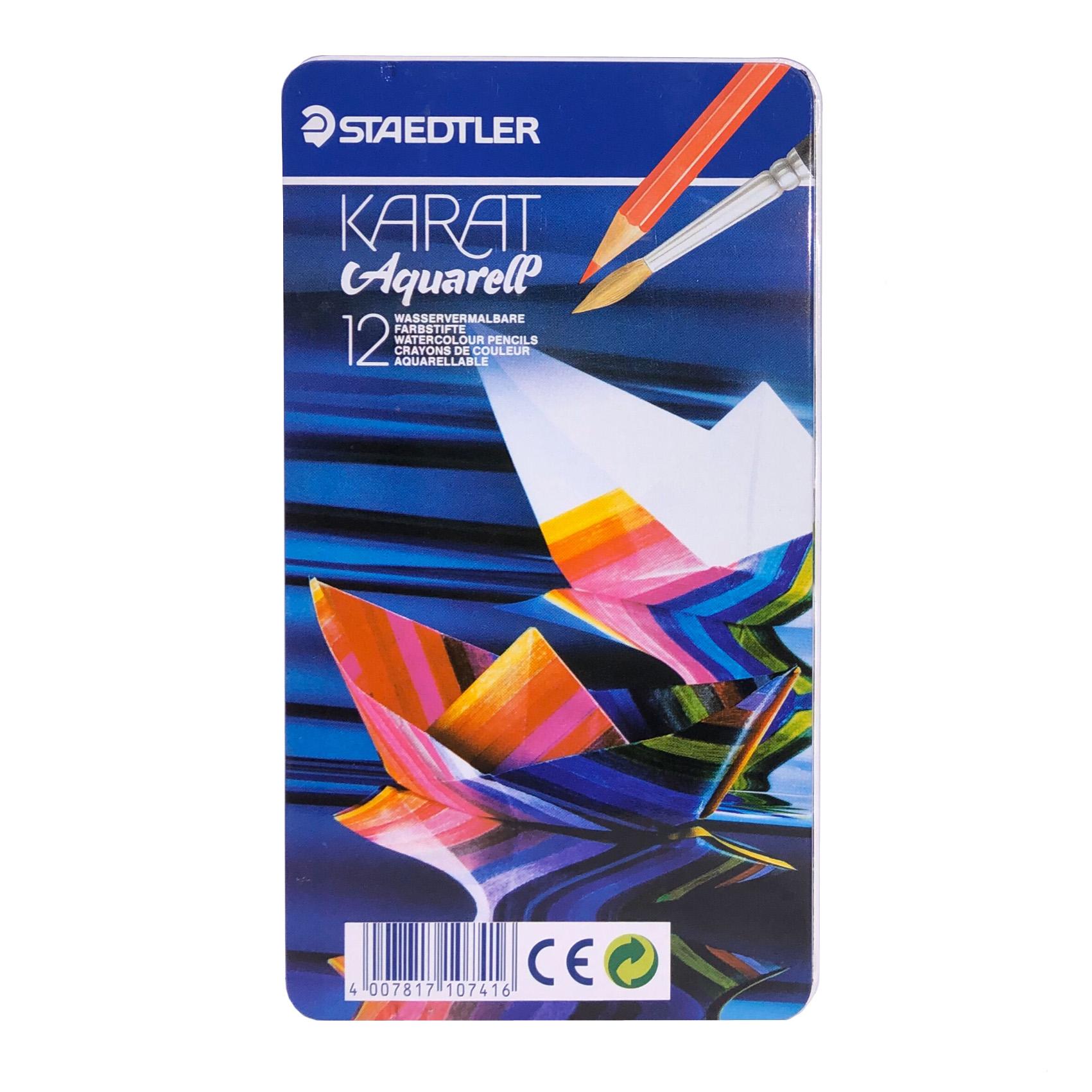 مداد آبرنگی 12 رنگ استدلر مدل KARAT کد 124