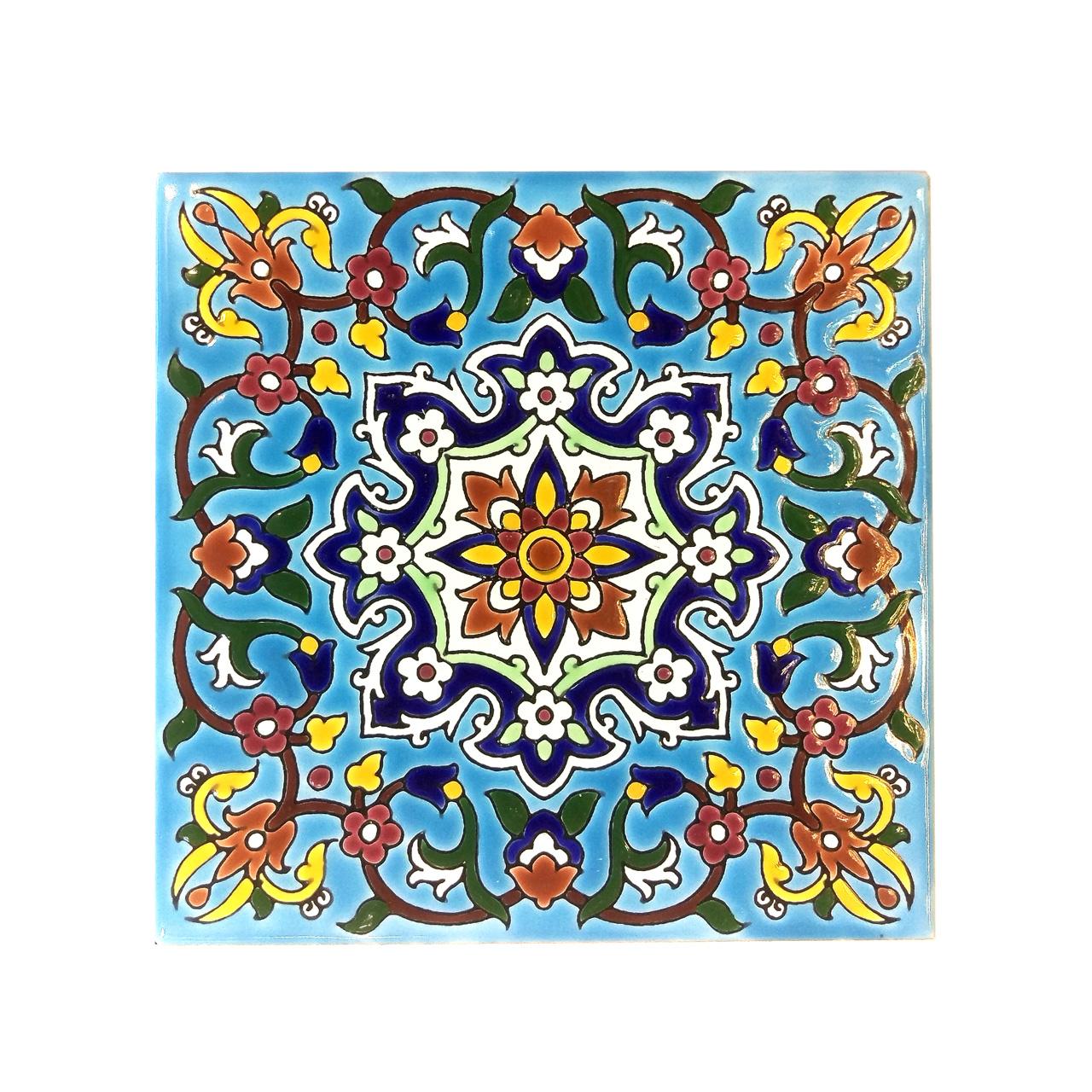 کاشی لعابدار لوح هنر کد 482