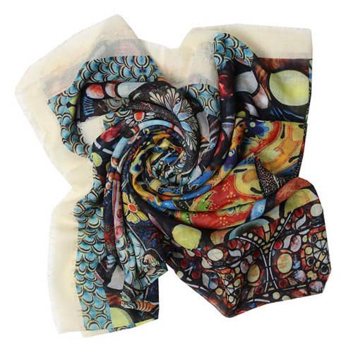 روسری زنانه طرح ماهی کد 319026250