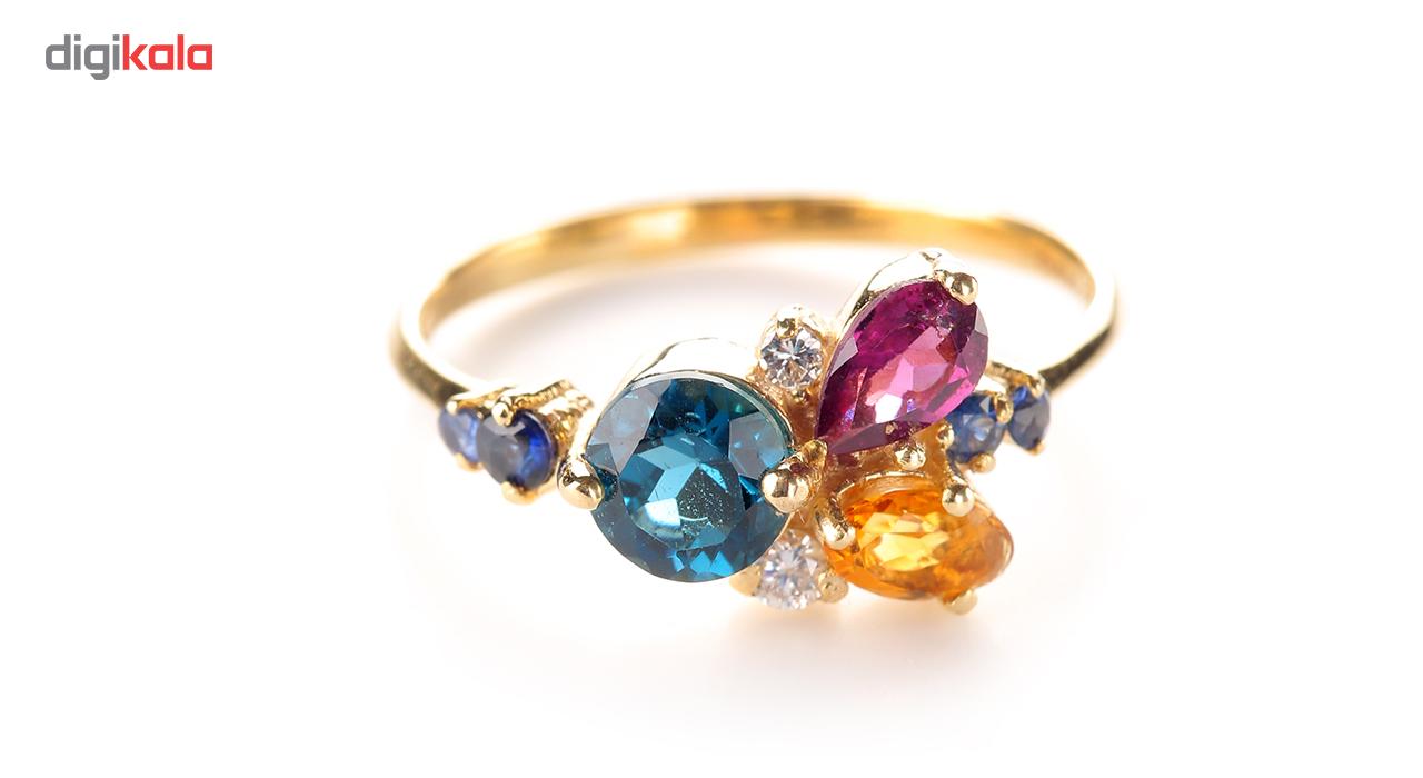 انگشتر طلا 18 عیار جواهرات ژوپی یر مدل N11