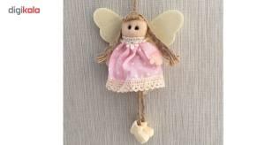 عروسک پارچه ای فرشته خانه سفید کد 1700317 ارتفاع 15 سانتیمتر