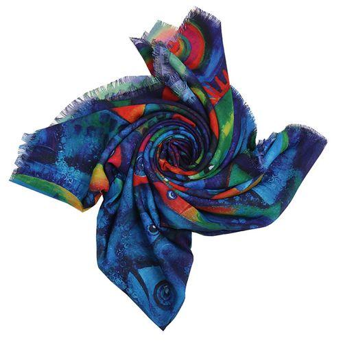 روسری زنانه طرح ماهی کد 101013414