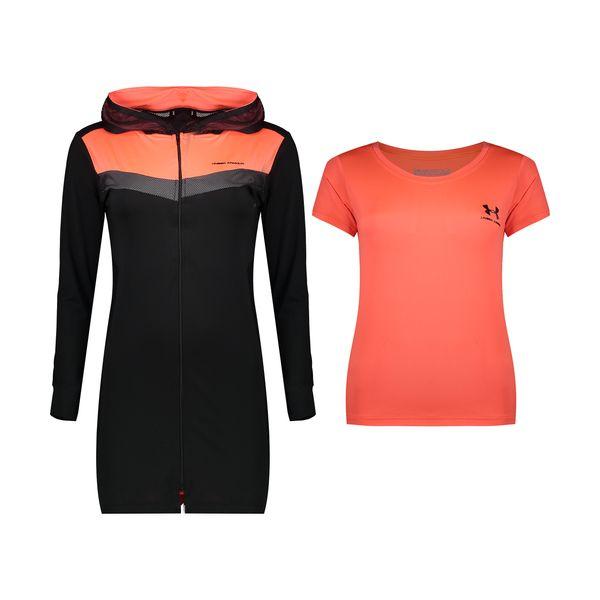 ست تی شرت و گرمکن ورزشی زنانه آندر آرمور کد TH3-0088 .