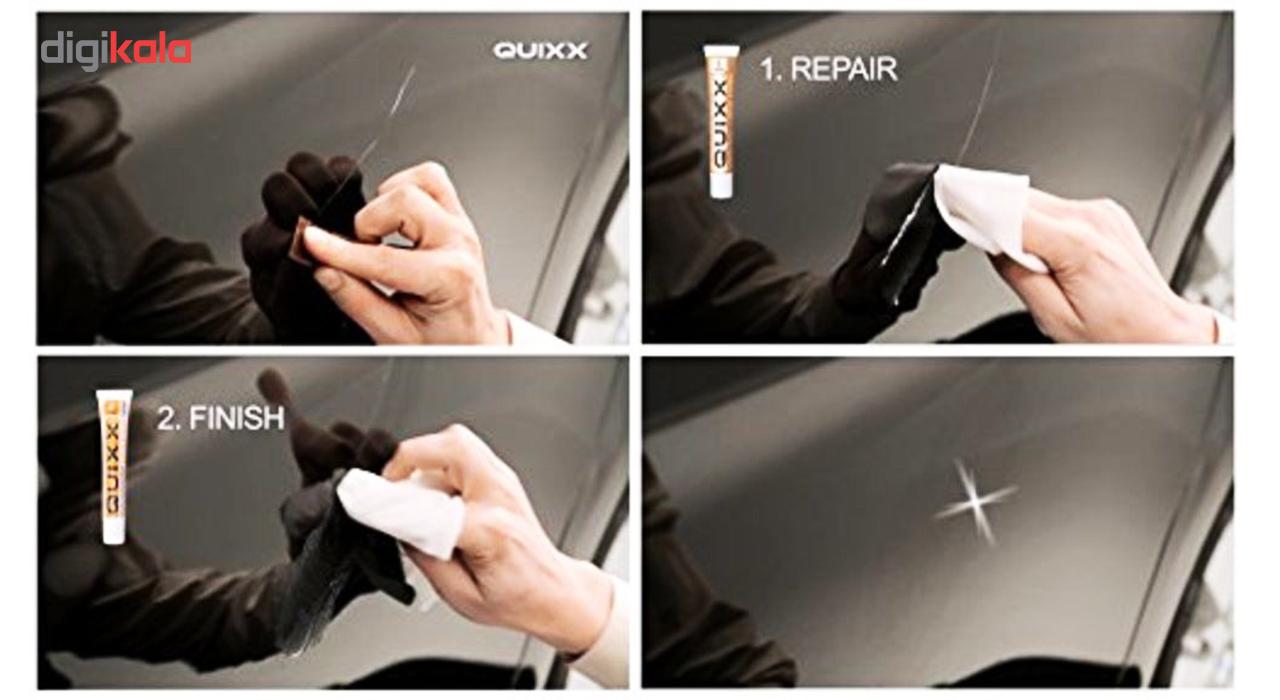 کیت کامل از بین برنده خط و خش بدنه خودرو کوئیکس دوپلی کالر مدل Paint Scratch Remover main 1 14