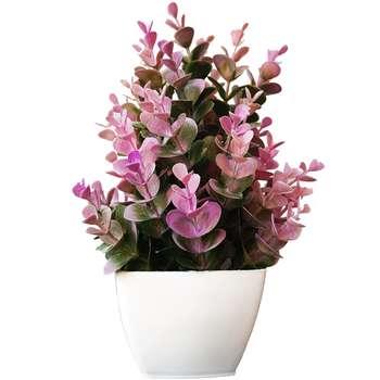 گلدان به همراه گل مصنوعی بخشی مدل SH35
