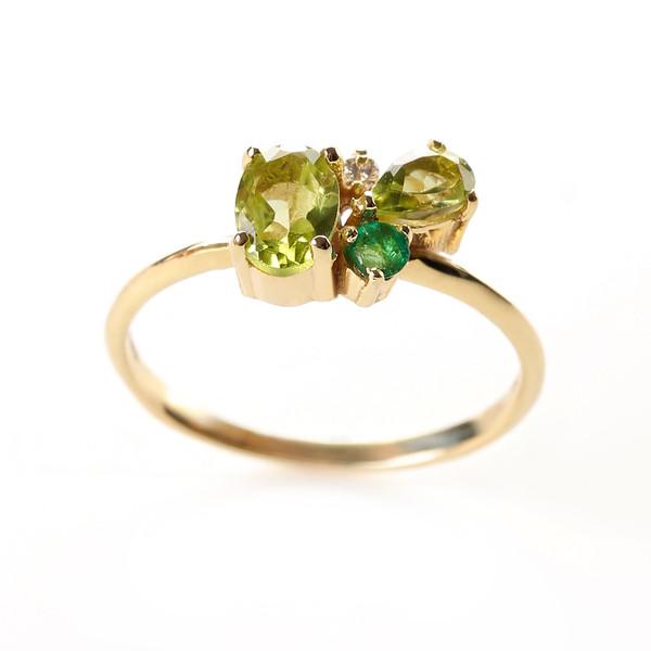 انگشتر طلا 18 عیار جواهرات ژوپی یر مدل N18