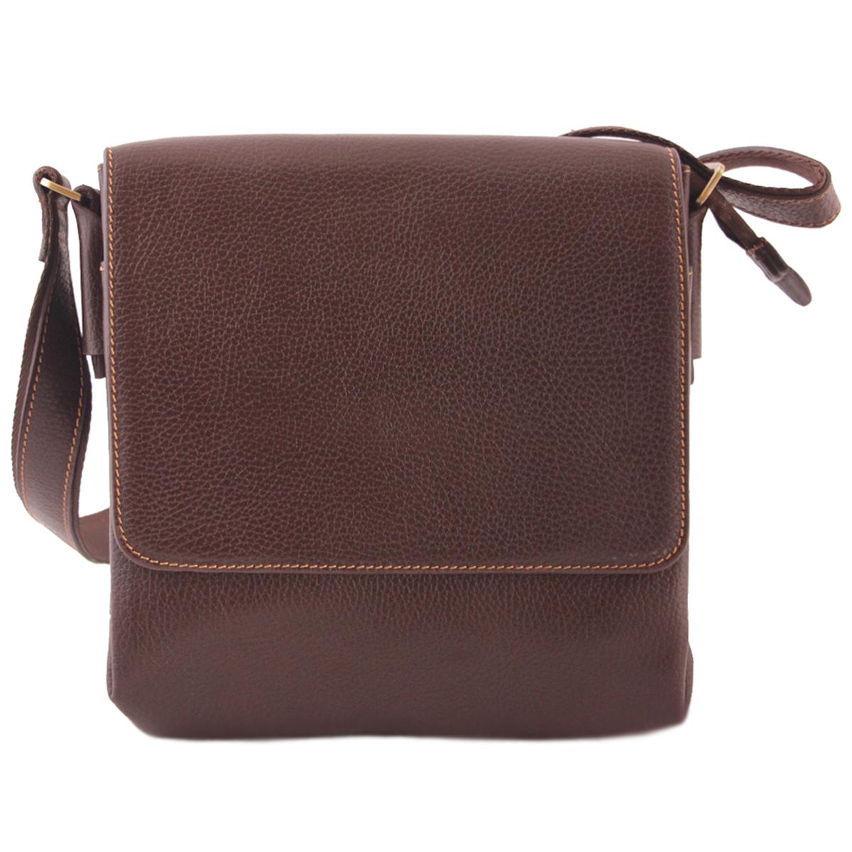 کیف دوشی چرم طبیعی آدین چرم مدل DG39.1