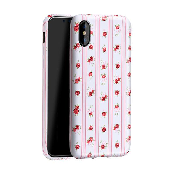 کاور هوکو مدل Stripe Flowery مناسب برای گوشی موبایل آیفون X