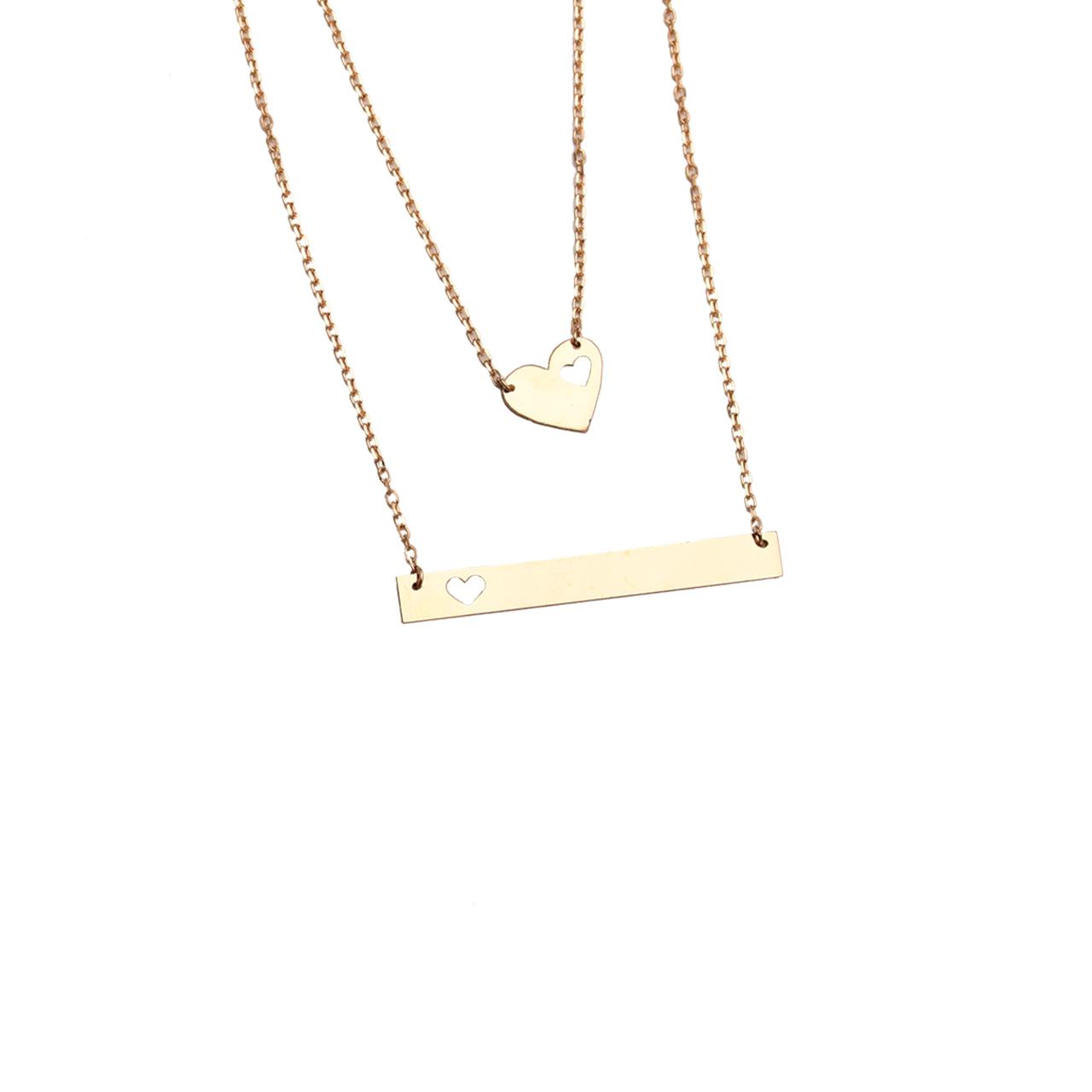 گردنبند  طلا 18 عیار کد N120