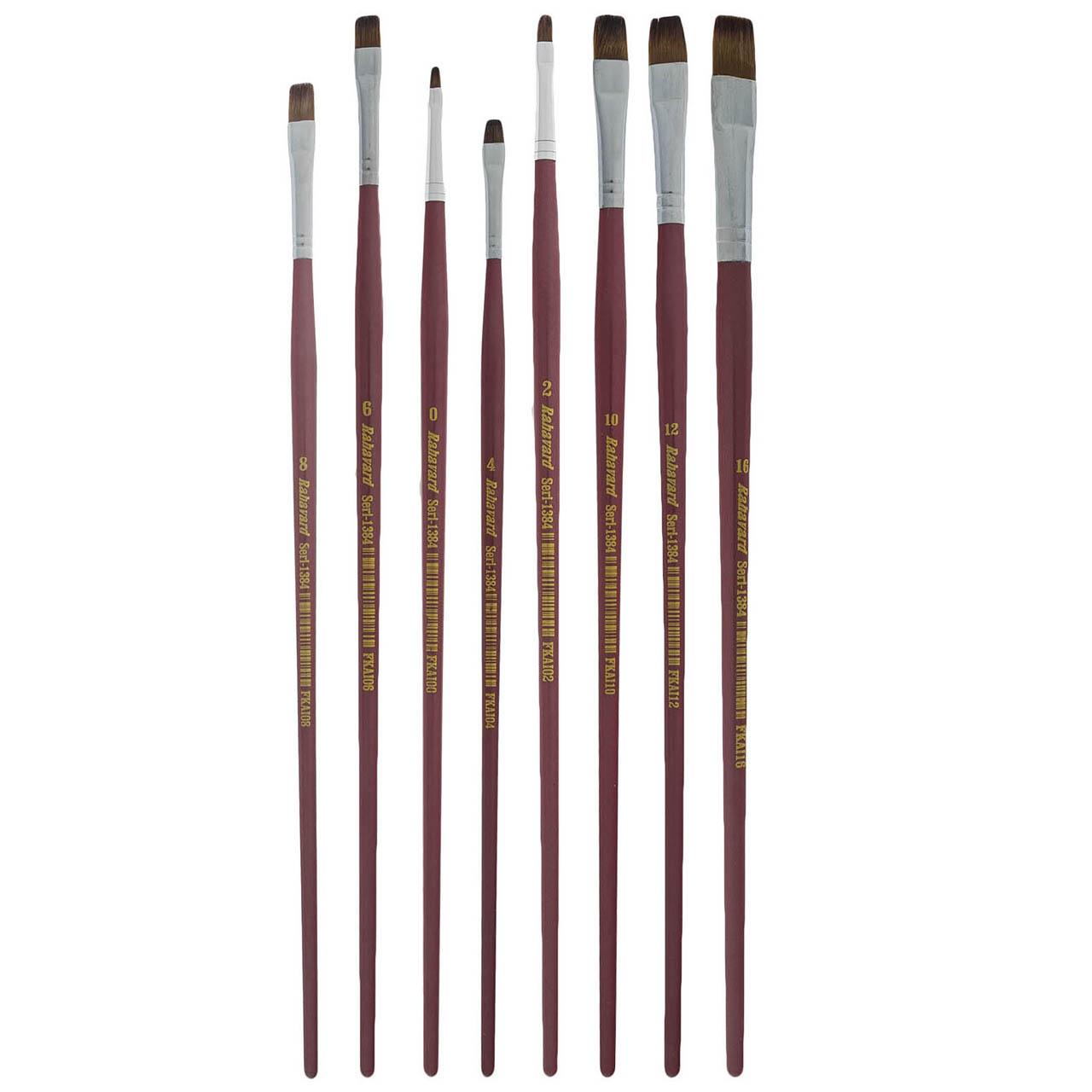 ست قلمو تخت مو نرم ره آورد سری 1384 بسته هشت عددی