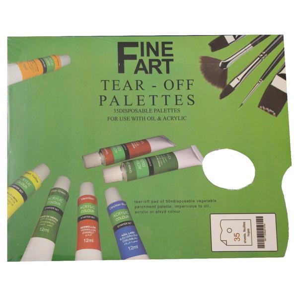 پالت رنگ روغن مدل دفترچه ای بسته 35 برگی